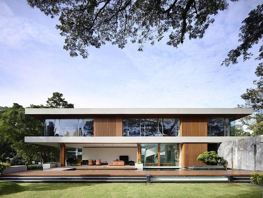 Description: Gorgeous 65BTP House by ONGONG in Singapore Biệt thự tại Singapore với thiết kế không gian mở gần gũi với thiên nhiên qpdesign