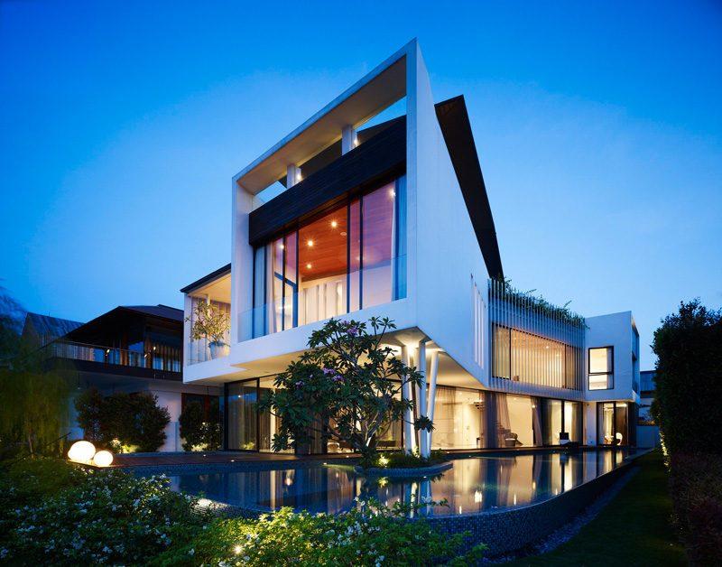 Description: 13 cove grove 271215 01 Ngôi nhà hiện đại và tiện nghi với hình dáng chiếc BOOMERANG qpdesign