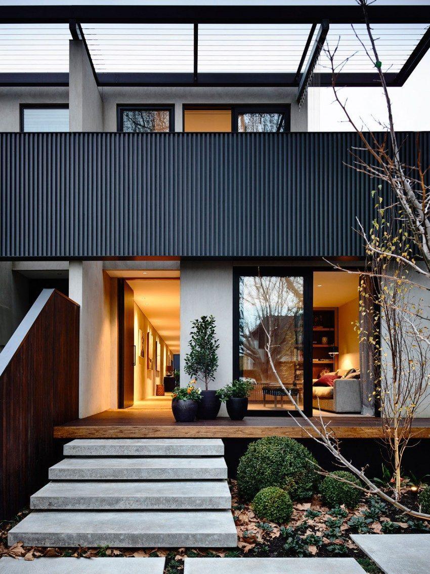 Description: modern residence 11 2 Nhà phố với thiết kế Minimalist với phòng tập Yoga tại Úc qpdesign