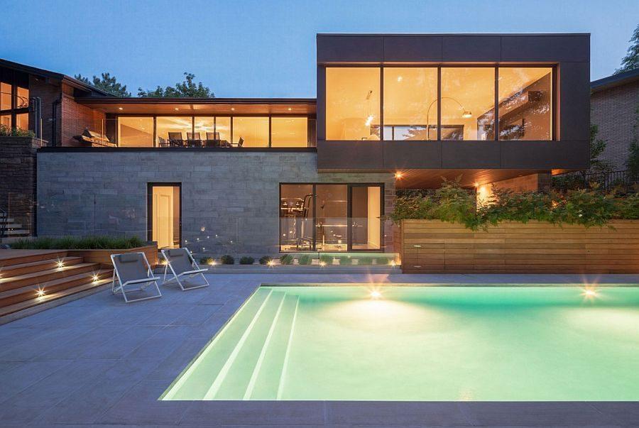 Description: 1223 Ngôi nhà một tầng được mở rộng thành biệt thự hồ bơi sang trọng qpdesign
