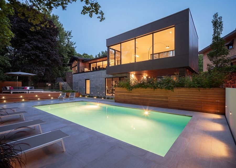 Description: 1321 Ngôi nhà một tầng được mở rộng thành biệt thự hồ bơi sang trọng qpdesign