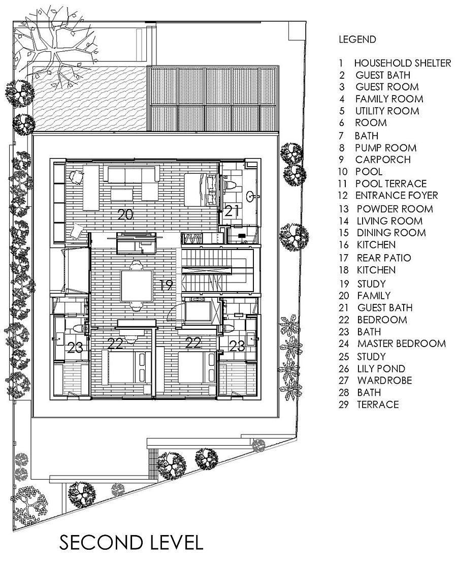 Description: 1527 Chiltern House   Nhà phố hiện đại với nhiều không gian xanh qpdesign