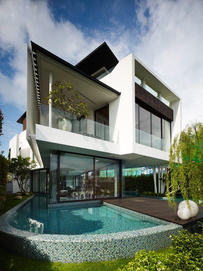 Description: 13 cove grove 271215 02 Ngôi nhà hiện đại và tiện nghi với hình dáng chiếc BOOMERANG qpdesign