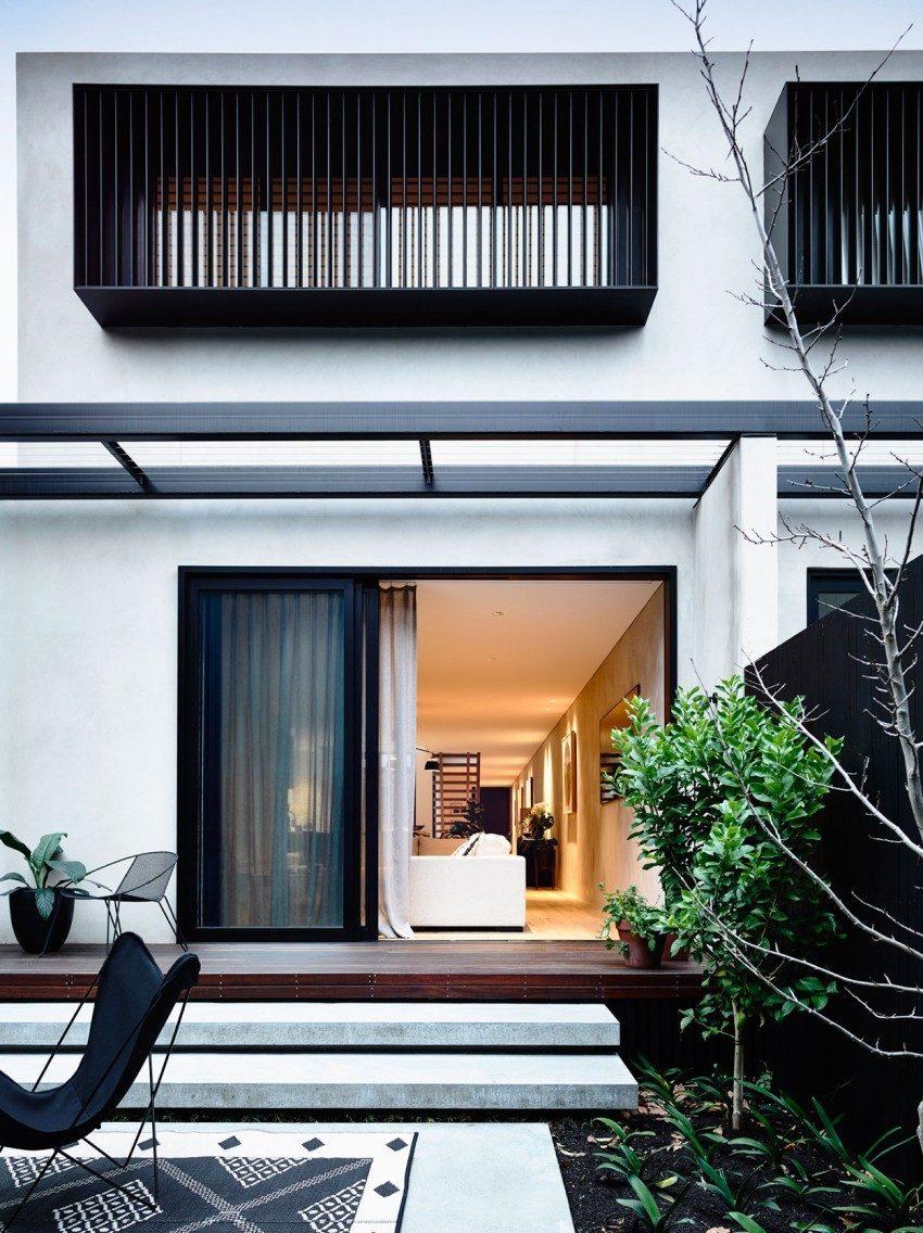 Description: modern residence 11 1 Nhà phố với thiết kế Minimalist với phòng tập Yoga tại Úc qpdesign