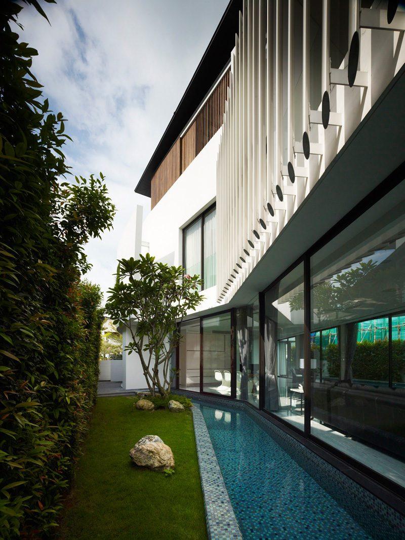 Description: 13 cove grove 271215 03 Ngôi nhà hiện đại và tiện nghi với hình dáng chiếc BOOMERANG qpdesign