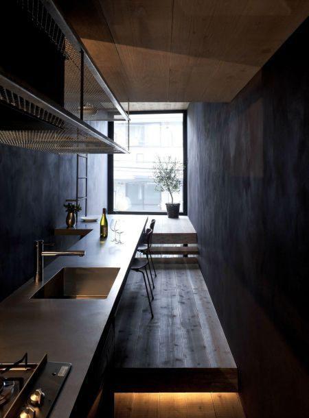Description: Toshima long and narrow house compact kitchen 1439461888 1200x0 Thiết kế thông minh cho nhà ống hẹp 1.8m qpdesign