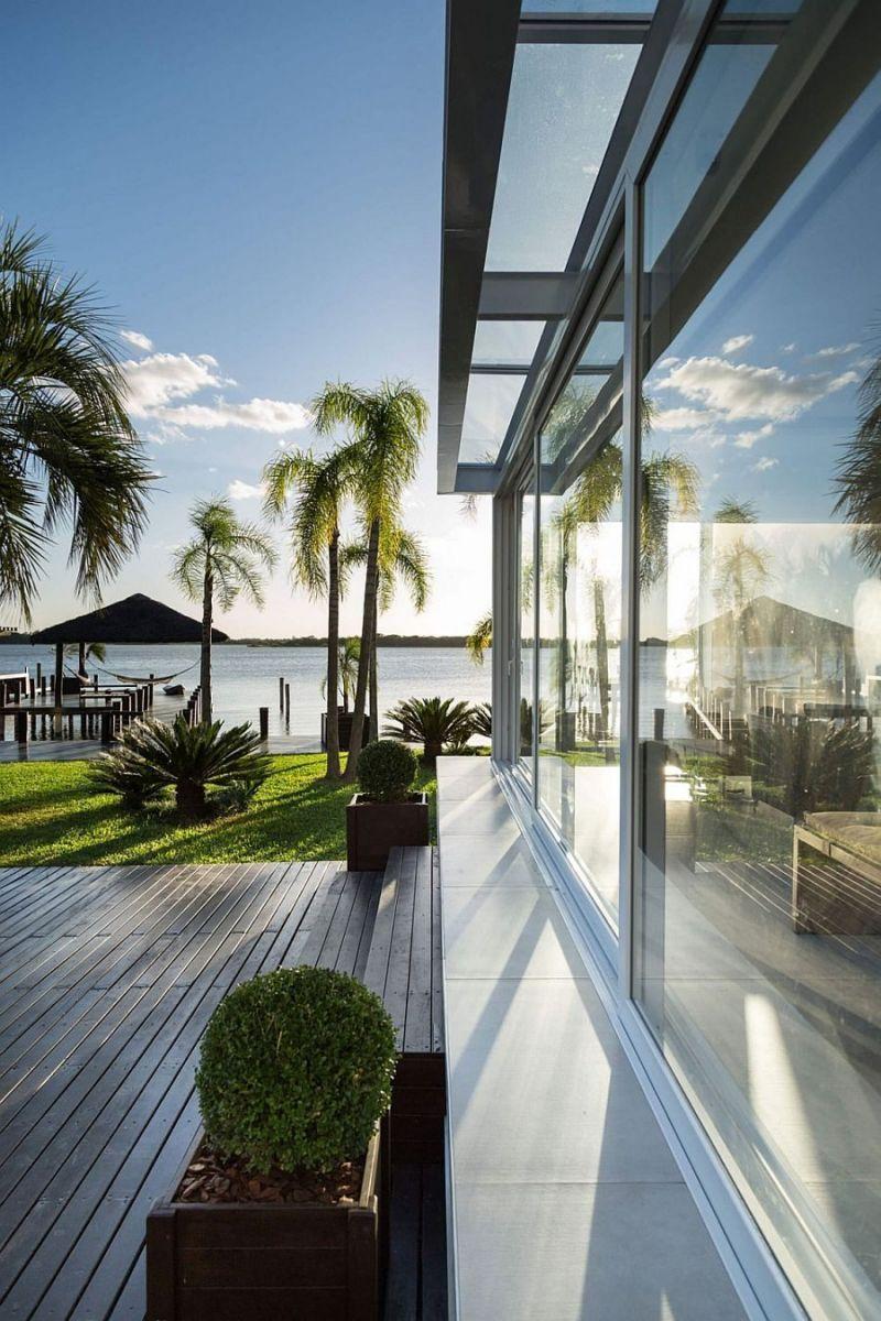 Description: 41 Biệt thự hiện đại với phong cảnh bờ hồ tuyệt đẹp tại Brazil qpdesign