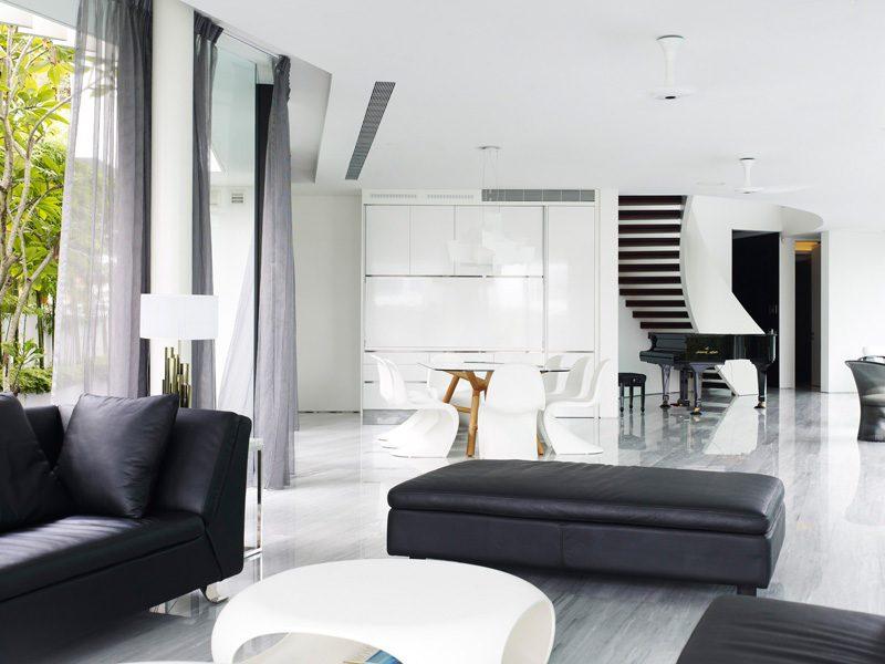 Description: 13 cove grove 271215 06 Ngôi nhà hiện đại và tiện nghi với hình dáng chiếc BOOMERANG qpdesign