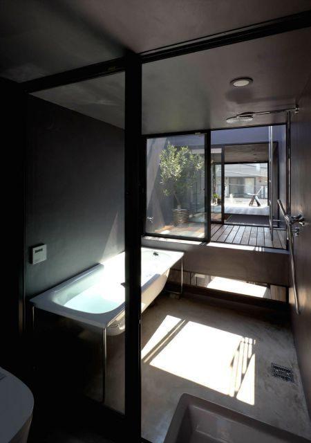 Description: Toshima long and narrow house bathroom 1439461839 1200x0 Thiết kế thông minh cho nhà ống hẹp 1.8m qpdesign